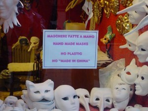 Made in Venice. Not made in China.